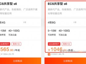 阿里云4核8G5M服务器优惠价1046.04元一年(ECS共享型s6)
