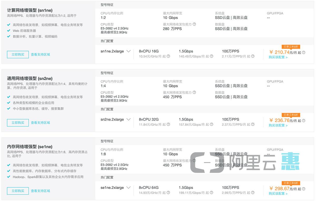 阿里云服务器ECS价格表-阿里云惠网