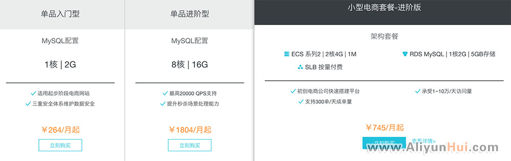 阿里云MySQL云数据库优惠价264元/月-阿里云惠网