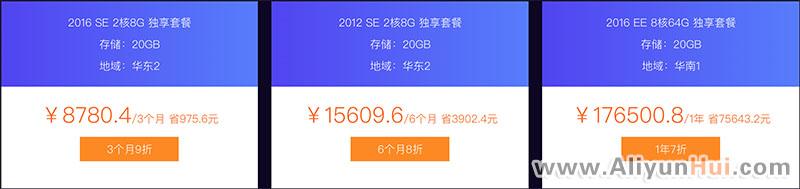 阿里云SQL Server SE&EE云数据库高可用版优惠价格