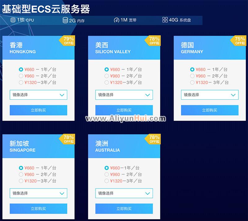 阿里云国外(海外地域)及香港服务器2折起