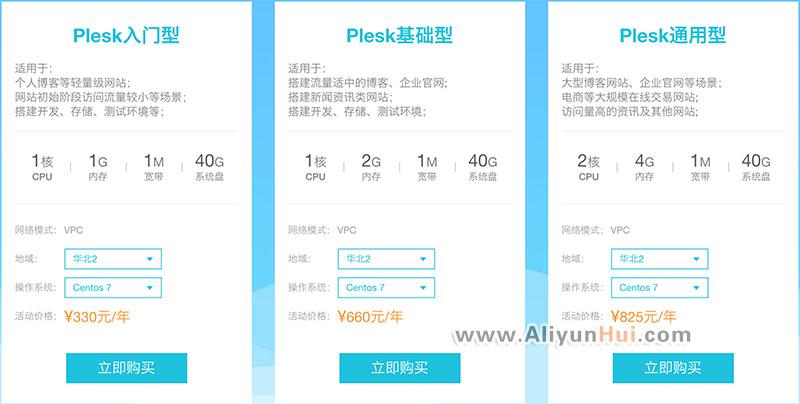 购阿里云服务器赠送Plesk一年免费使用